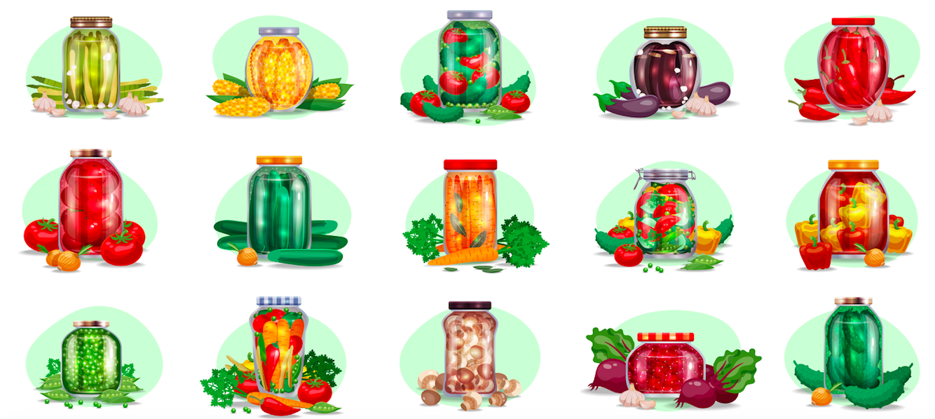 Pickle in Glass Jars