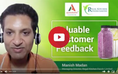 Ajanta Bottle is a reliable partner in Regal Kitchen's growth – Manish Madan, MD, Regal Kitchen