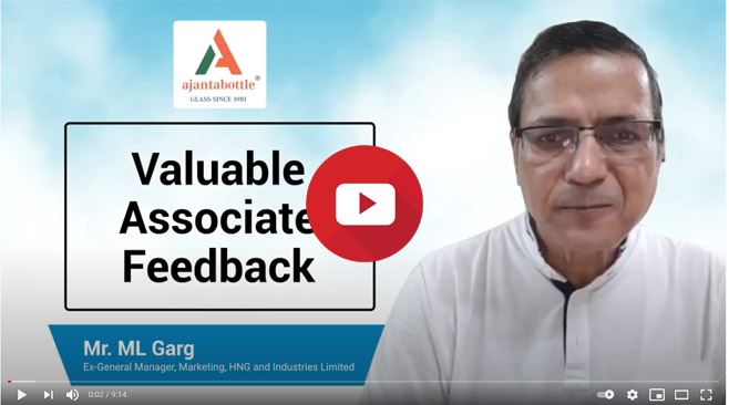 Ajanta Bottle fulfilling glass packaging needs for the past 40 years – M.L. Garg, HNG & Industries