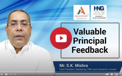 Ajanta Bottle & HNG share strong bond for past 40 years : S.K Mishra, VP Marketing, HNG &Industries
