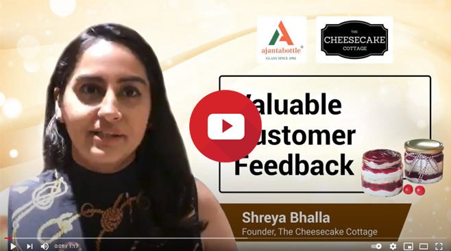 Ajanta Bottle supplies best quality glass jars at best prices- Shreya Bhalla, The Cheesecake Cottage