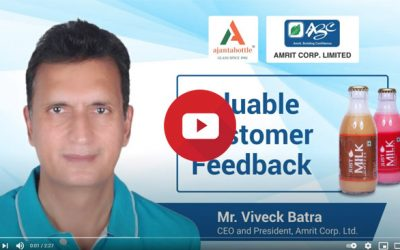 Amrit Corp. shares strong bond with Ajanta Bottle for past decade – Viveck Batra, CEO, Amrit Corp